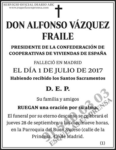 Alfonso Vázquez Fraile
